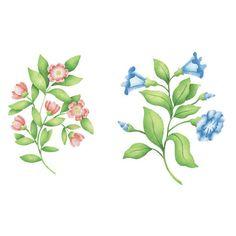 Flower Stencils: English Flowers Wall Art Stencils - Royal Design Studio