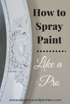 spray painting is a great way to upcycle your home decor it can be a. Black Bedroom Furniture Sets. Home Design Ideas