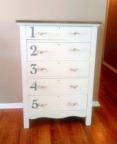 refinished dresser - anthropologie style