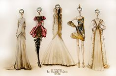 fabcounsel: Original sketches by Alexander McQueen! Learn how to get into fashion at www.fabcounsel.com