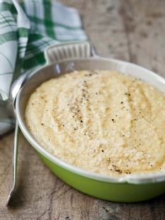Creamy Parmesan Polenta: Barefoot Contessa - - I made this tonight for dinner and it was very good. I served it with roasted chicken.