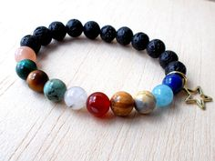 Solar System Jewelry Space Bracelet Sun and Moon by XtraClaire