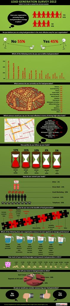 Lead Generation Survey 2012 - Infographic ~ This Little Voice in My Head