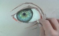 The edges of the eye are defined by skin tones.