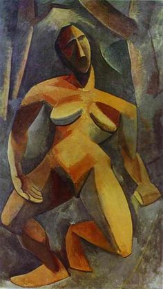 """Dryad"". 1908  Oil on canvas St.Petersburg. The State Hermitage Museum Cubism"