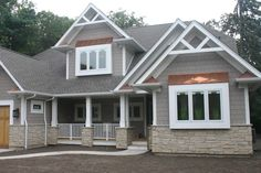 Craftsman Style Home Exteriors Minimalist maibec hematite color | siding colours | pinterest | wood siding