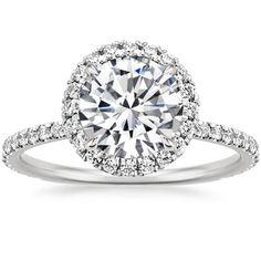 Platinum Waverly Diamond Ring, top view