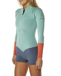 SURFSTITCH - SURF - WETSUITS - WOMENS SPRING SUITS - ROXY K MEADOR 2MM FZ LS SPRINGSUIT - MULTI