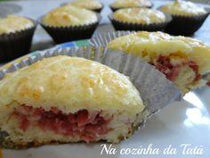 Na Cozinha da Tatá: Cupcake Salgado de Calabresa