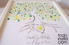 """Cuadro de firmas huellas """"árbol 1""""  http://www.todoinvitacion.com/products-page/cuadros-de-firmas-con-huellas/"""