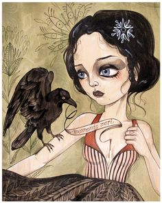female version of Edgar Allen Poe.