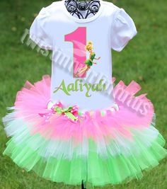 Tinkerbell Birthday Outfit | Tinkerbell Birthday Party Ideas | Birthday Party Ideas for Girls | Twistin Twirlin Tutus #tinkerbellbirthday