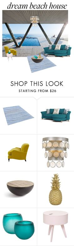 """""""dream beach home"""" by canaryarrow ❤ liked on Polyvore featuring interior, interiors, interior design, home, home decor, interior decorating, Jayson Home, Crystorama, GO Home Ltd. and Goodnight Light"""