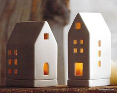 Roost Porcelain Tealight Houses