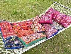 Sally Campbell, Handmade Textiles - Vintage embroidered cushions