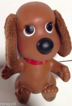 Ideal 1982 Rub A Dub Dog Bath Toy Head Swivels Vintage 80s Puppy Bathtub | eBay
