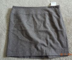 The Limited Women's Brown Houndstooth Size 10 Skirt NWT Polyester Blend ChinaWow