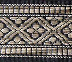 Jacquard Trim. Medieval Quatrefoils. Black & Silver Inkle Weaving, Inkle Loom, Layering Outfits, Loom Patterns, Black Trim, Black Silver, Medieval, Embroidery, Crafts
