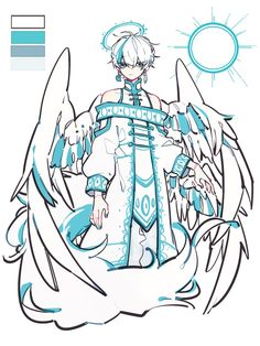 anime boy white hair with wings character design Character Drawing, Character Concept, Concept Art, Character Design Inspiration, Fantasy Character Design, Character Design References, Fantasy Characters, Cute Art, Art Reference