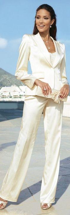 always like a white feminine style suit