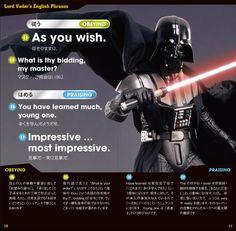 Darth Vader enseña inglés a los japoneses. ¿Será capaz el señor oscuro del Sith de hacer que el nivel de inglés de los japoneses mejore?