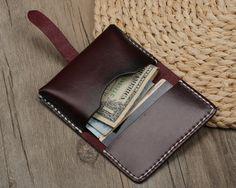 Handmade Vegetable Tanned Leather Credit Card от RayliHandmade