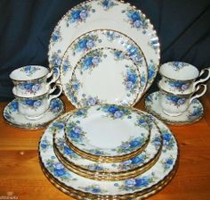 Royal Albert Bone China, pattern:  Moonlight Rose.  I would be happy with either one piece of my selection, or, a basic set.  I don't feel the need to own every piece of it they ever made.  I'd be happy with just a tidbit tray (for example) or a small set of the basic pieces.