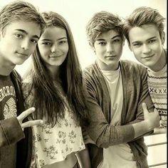 Leo, Eleonora, Federico e Saul