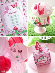 Pink pixie fairy birthday party ideas with DIY decorations, party food, favors ideas and printables! - BirdsParty.com