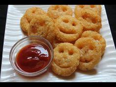 Homemade Potato Smiley Recipe / Potato Smiles Recipe - Yummy Tummy