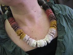 Crochet necklace  Cacao by Suzann61