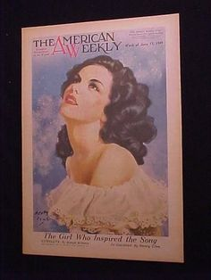 HENRY CLIVE PINUP AMERICAN WEEKLY MAGAZINE COVER 6/1949 MANUEL PONCE ESTRELLITA