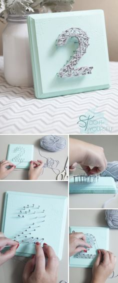 Cute DIY Project! Would be cute as initial. Use these as table / place settings, for a special birthday.
