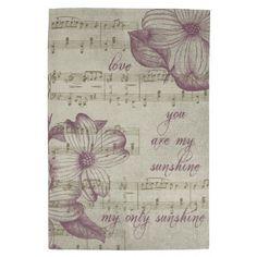 Gold Music Hand Towel