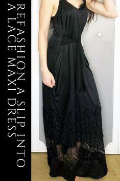 4a45e386d6bd6 3 Easy Ways To Refashion A Basic Slip Into A Flowy Maxi Dress