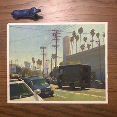 Pchan — Another LA paint. Sketchbook Inspiration, Art Sketchbook, Gouache Painting, Painting & Drawing, Posca Marker, Posca Art, Guache, Pretty Art, Plein Air
