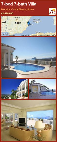 7-bed 7-bath Villa in Moraira, Alicante, Spain ▻\u20ac2,490,000