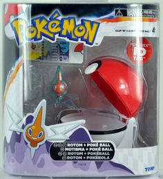 Pokemon X & Y TOMY Clip 'n' Carry Poke Ball ~ Rotom Figure Tomy