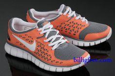 the latest ae28c dd5d2 Billig Schuhe Damen Nike Free Run + (Farbe Vamp-grau,orange