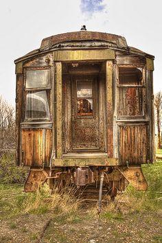 Abandoned rail car in Nevada City Montana, USA ~ Photo by...Rick Landry©