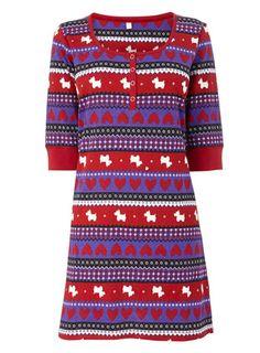 Red and Purple Scottie Design Sleep T - nightdresses - nightdresses - nightwear  - Women