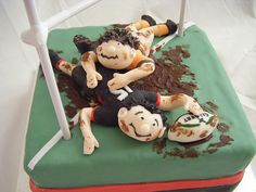 Rugby Cake by Cakeology ~ Handmade Cakes from East Midlands, UK, via Flickr