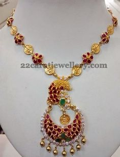 Jewellery Designs: Trendy Necklace only 17 Grams