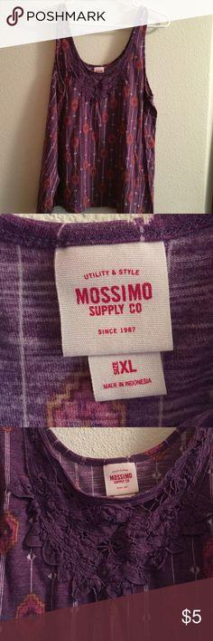Spotted while shopping on Poshmark: Mossimo purple geometric design tank Sz.XL! #poshmark #fashion #shopping #style #Mossimo Supply Co. #Tops