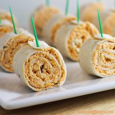 Buffalo Chicken Tortilla Pinwheels - Home Cooking Memories