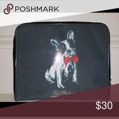 """Ted Baker French Bulldog IPad cover/clutch.  NEW 8 1/4""""x10"""" Ted Baker Accessories Laptop Cases"""