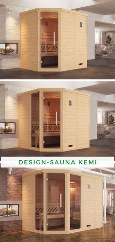 Sauna kleiner Raum: Ihnen fehlt noch die Extraportion Wellness in Ihrem Badezimmer? Mit der Design-Sauna KEMI Eck rüsten Sie sich optimal aus! Das Modell besticht durch seine praktische Baukonstruktion, mit der Sie die letzte freie Ecke in Ihrem Bad perfekt ausnutzen können. Holen Sie sich jetzt Entspannung pur in Ihre vier Wände!  #Sauna #Innensauna #Innenkabine #Saunainnen