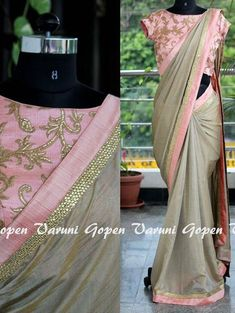 This is a Silver Colored Beautiful Embroidered Chanderi Silk Saree Wedding/Party Wear Bridal Saree. This Saree comes with an attached Banglori Silk blouse fabric. Wear this saree for special occasions, festivals, friends/family get-together, parties, Indian Dresses, Indian Outfits, Grey Saree, Plain Saree, Plain Chiffon Saree, Chanderi Silk Saree, Simple Sarees, Saree Models, Elegant Saree