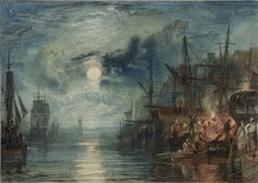 Joseph Mallord William Turner (1775–1851) Shields, on the River Tyne, 1823 For The Rivers of England Watercolor on paper 6 1/16 x 8 1/2 in. (15.4 x 21.6 cm) Tate; Accepted by the nation as part of the Turner Bequest 1856 © Tate, London 2016