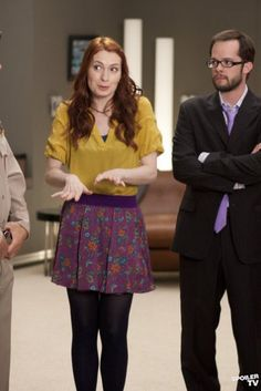 Felicia Day and Neil Grayston as Holly and Fargo on Eureka.